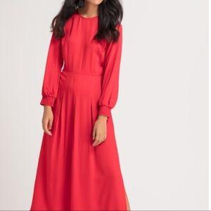 Stunning long red designer dress